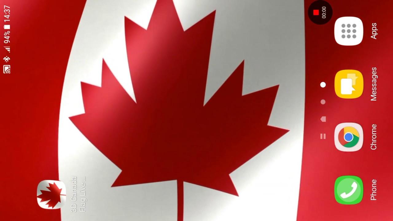 3d Canada Flag Live Wallpaper Youtube