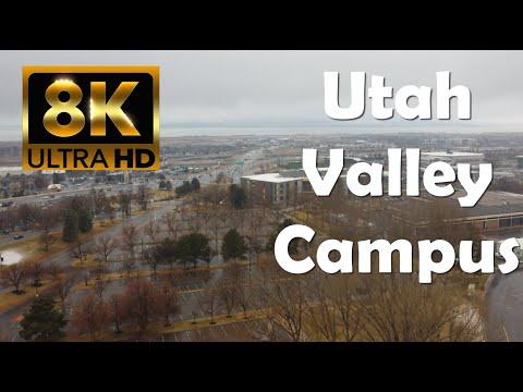 Utah Valley University   UVU   8K WINTER Campus Drone Tour
