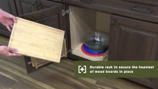 Schuler Cabinetry: Installed Cutting Board Door Rack, Kitchen Storage Part 23