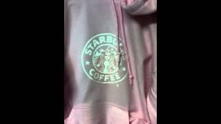 Starbucks christmas pink hoodie coffee cafe mocha late choc