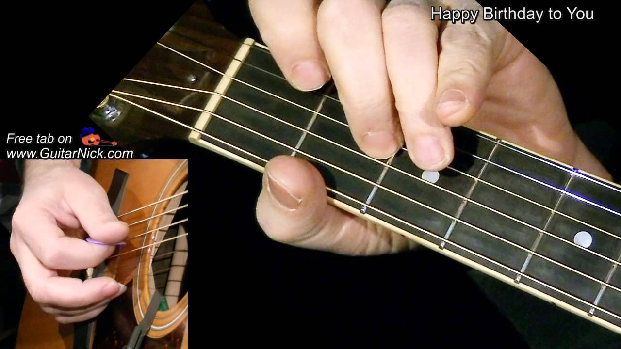 Happy Birthday Flatpicking Guitar Lesson Tab By Guitarnick Youtube