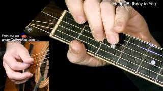 HAPPY BIRTHDAY: Flatpicking Guitar Lesson + TAB by GuitarNick