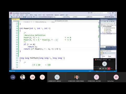 DSA 2020A Lecture 08   Advanced Recursion Power, Mult, Division, Fibonacci, Dynamic Programming