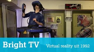 Virtualreality-machine uit 1992 in museum in Zwolle (uit Bright TV)