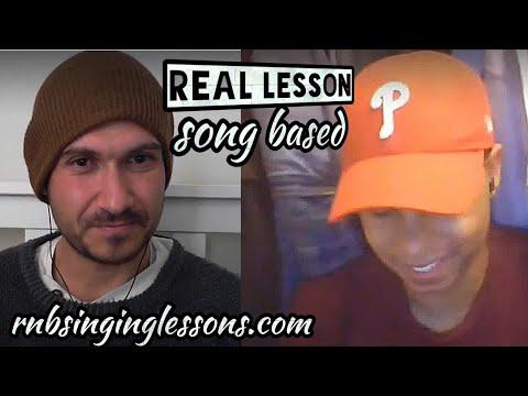 #24 Real Student - Singing Lesson - Runs, Slides, Range - Boyz II Men - On Bended Knee