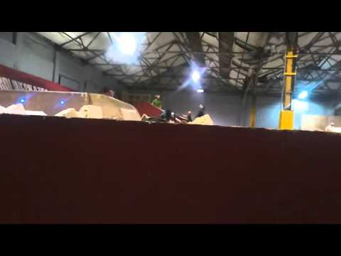 First time goin down large ramp into foam
