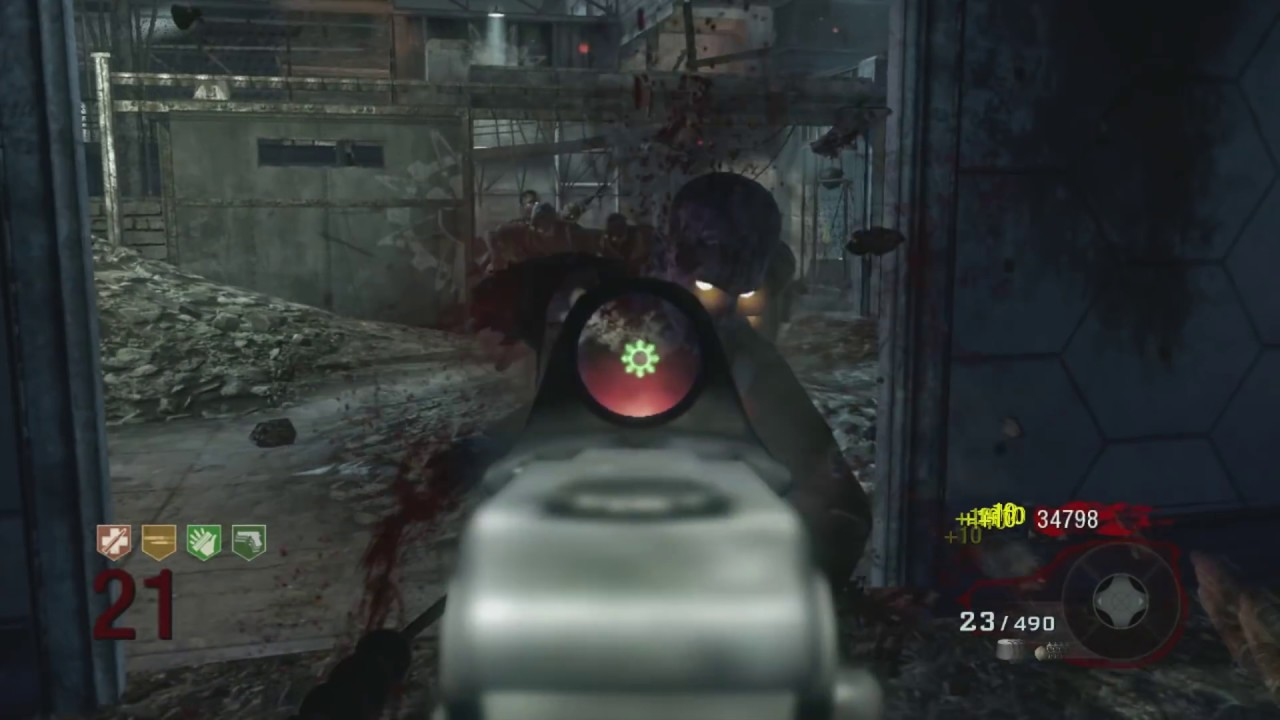 Call Of Duty Black Ops Zombies Der Riese Solo Round 1 31 Gameplay