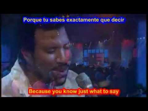 Hello  - Lionel Richie ( SUBTITULADA  EN  ESPAÑOL &  INGLES   LYRICS  LETRAS SUB )