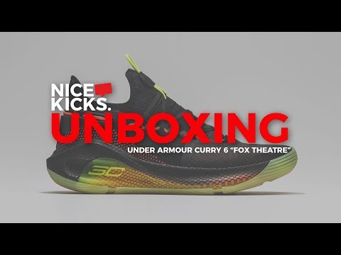 new arrival 86c8a 8f0a7 Unboxing Steph Curry's Under Armour Curry 6 'Fox Theatre ...