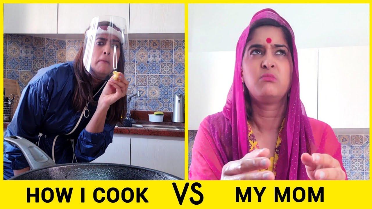 How I Cook Vs. How My Mom Cooks | Anisha Dixit | #Shorts