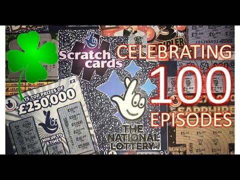 Scratchcards from The National Lottery © EPISODE 100!! Day 1/5: £100!
