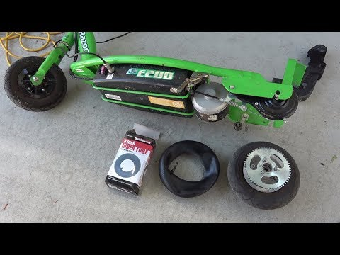 Razor E200 electric scooter: replace inner tube for rear tire