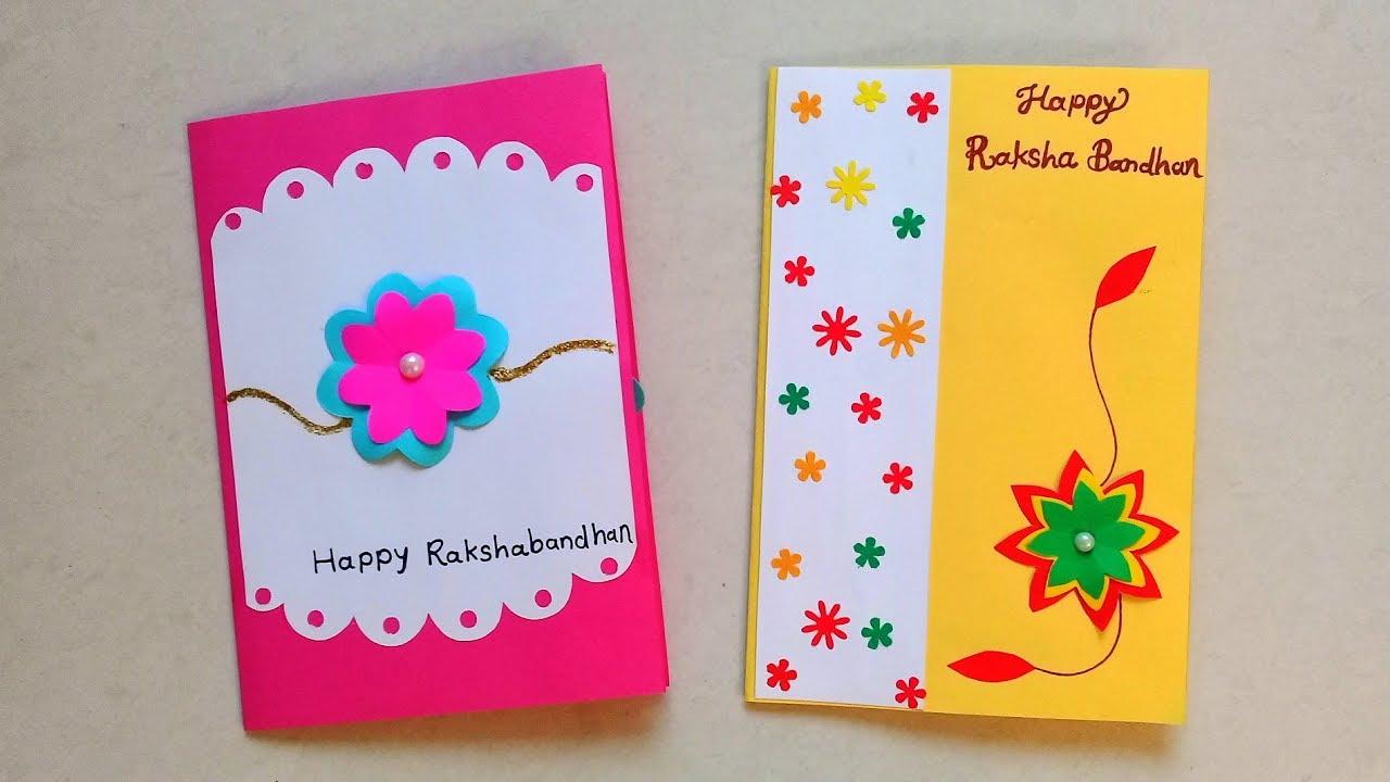 How to Make Beautiful Rakhi Cards at Home  DIY Two Raksha Bandhan Cards
