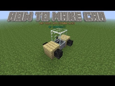 1 8 how to make a car bus train in minecraft that move 39 s youtube. Black Bedroom Furniture Sets. Home Design Ideas