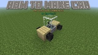 1 8 how to make a car bus train in minecraft that move s
