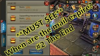 Legacy Of discord- When are the mail expire? Part 2 The END!
