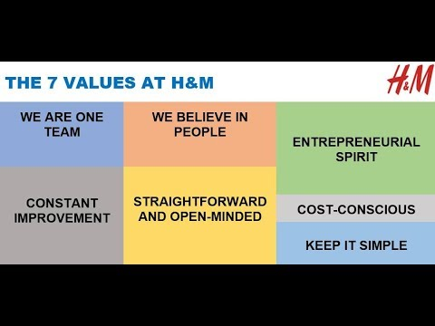 THE 7 VALUES AT H&M via Karl-Johan Persson