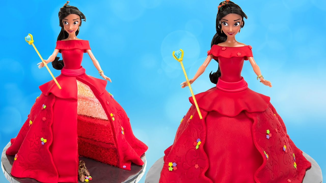 How To Make Disney Princess Elena Of Avalor Doll Cake
