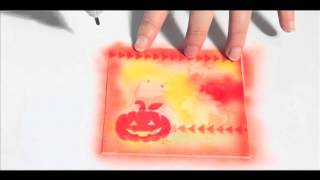 Copic Airbrushed Halloween Card