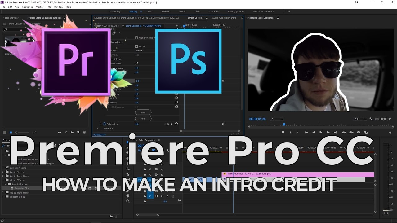 Create An Easy Intro Credit  Adobe Premiere Pro Cc 2017  Editing Made Easy  [ep4]