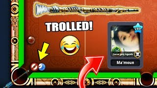 I TROLLED This Kid VERY BADLY With My NEW Cue In 8 Ball Pool ...*savage*