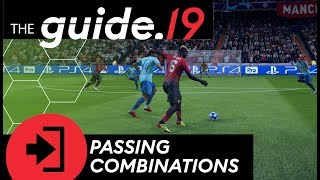 FIFA 19 How to play TIKI TAKA Create chances with PASSING COMBINATIONS  Offense Tutorial