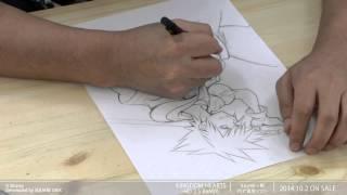【KINGDOM HEARTS -HD 2.5 ReMIX-】イラスト完成までの道:メイキングムービー