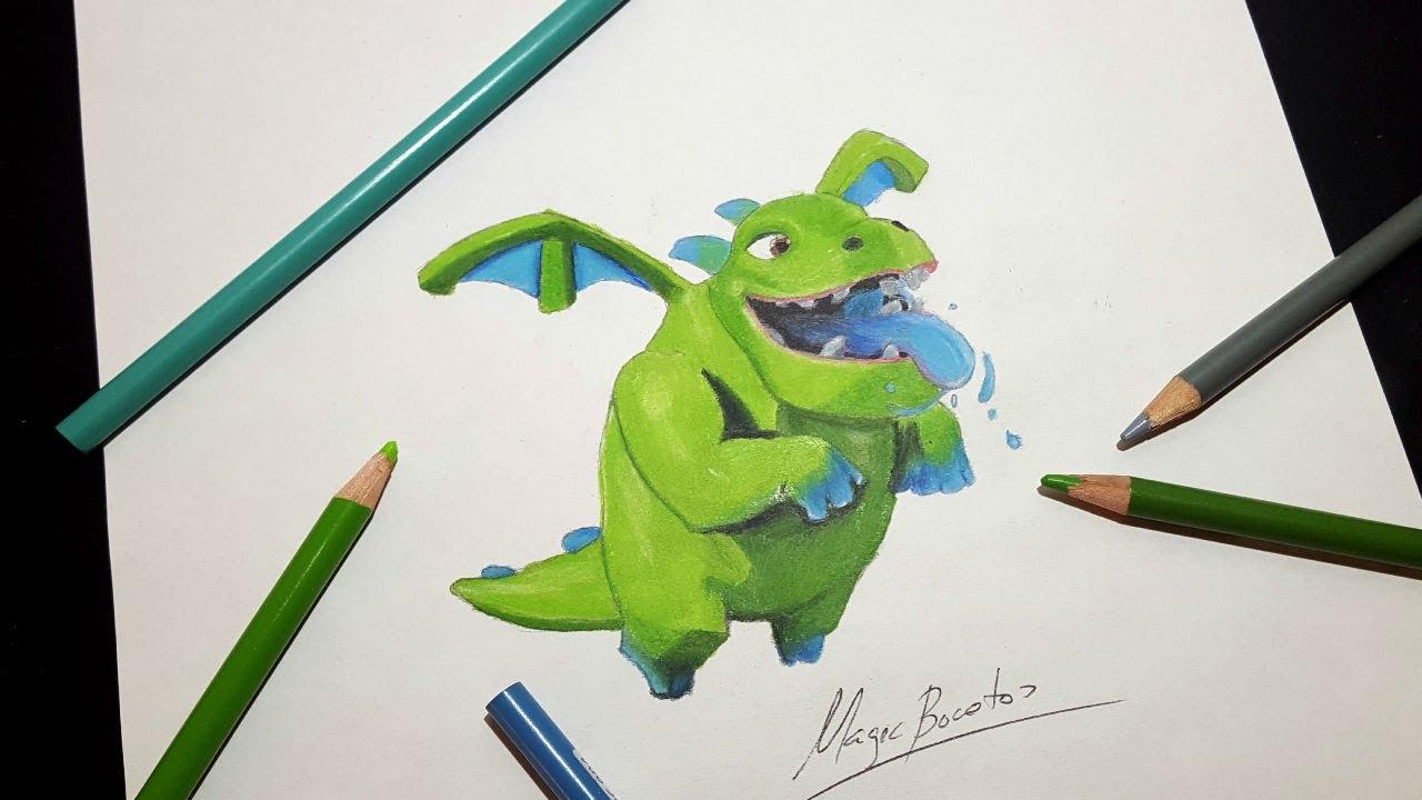 Cómo Dibujar Al BABY DRAGON De CLASH ROYALE-MagicBocetos-Tutorial ...