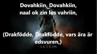 Skyrim: Dragonborn song (Swedish lyrics)