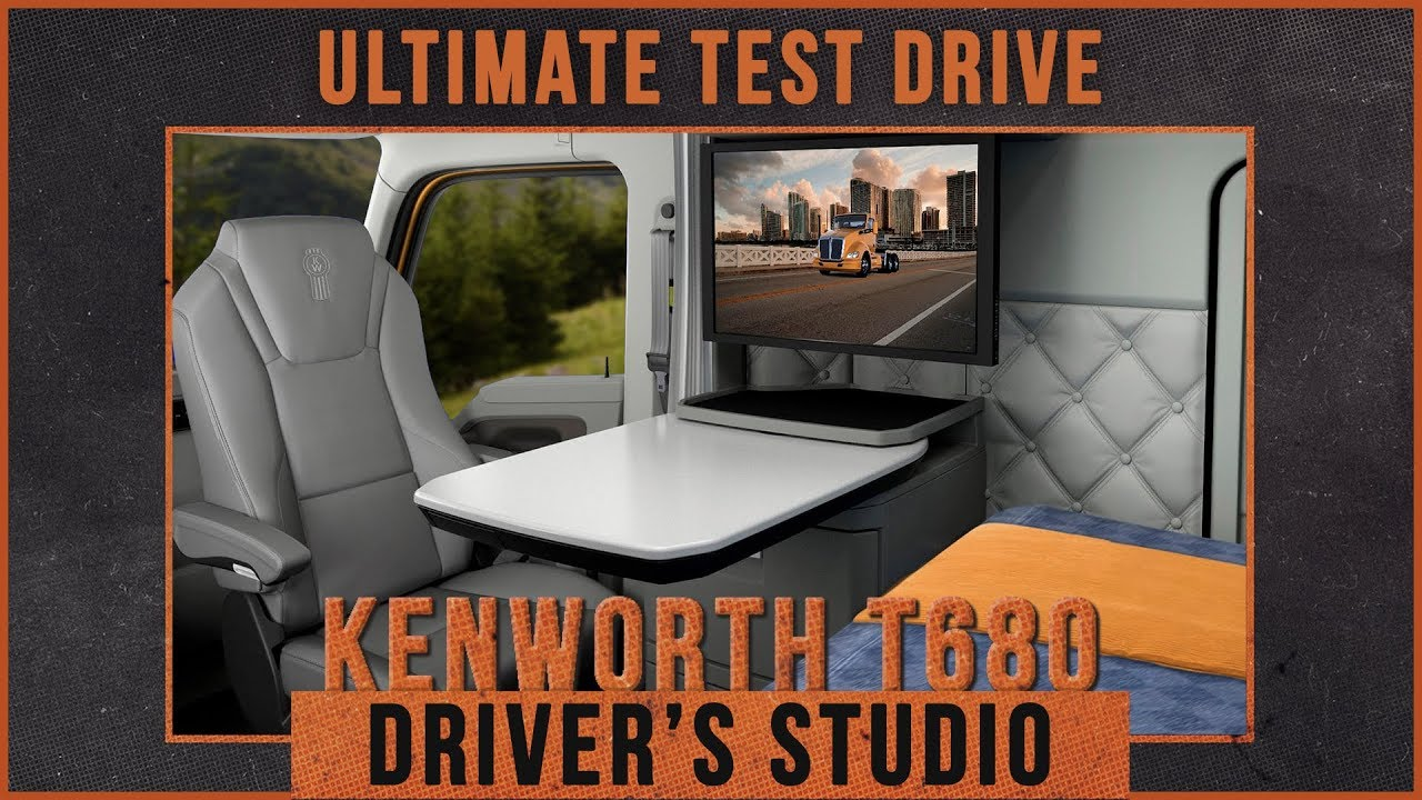 Take A Tour Of The Kenworth T680 Driver S Studio