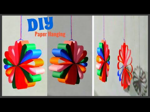 Very Simple Wall Hanging Ideas II Paper Home Décor II Wall Decoration Ideas II Paper Flowers