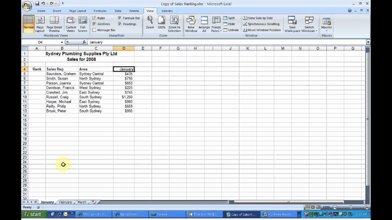 Excel functions (alphabetical)