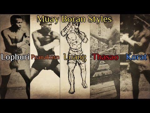 Muay Boran Styles