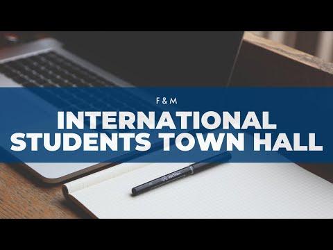 International Students Town Hall (3/25/20)