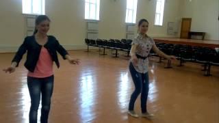Татарская пляска под гармонь в исполнении девушек