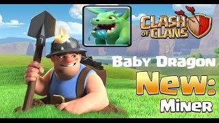 CLASH OF CLANS ◄► ★ UPDATE MINERS BABYDRAGON WITH SONG ALAN WALKER FADED