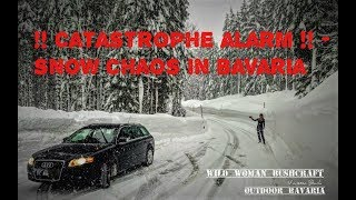 Catastrophe and ⚠️Snow-Chaos in Bavaria 2019 ⛔️ Incredible pictures - 2 meters of fresh snow - 4K-