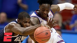 No. 1 Kansas holds off Villanova in back-and-forth contest | College Basketball Highlights