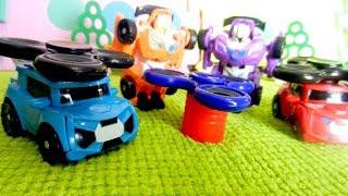 Тоботы - Трансформеры и Спинер. Игрушки для детей. Детское видео