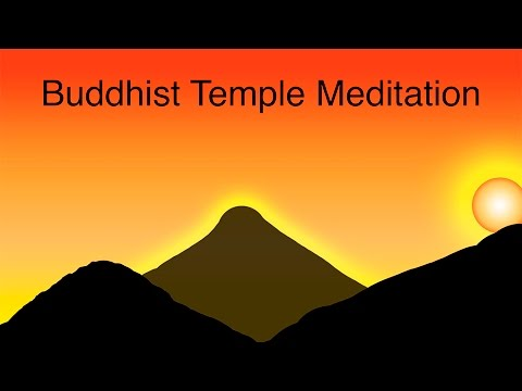 BUDDHIST TEMPLE MEDITATION