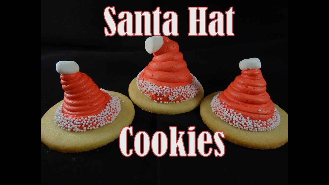 Santa Hat Cookies Marshmallow Buttercream Recipe With Yoyomax12