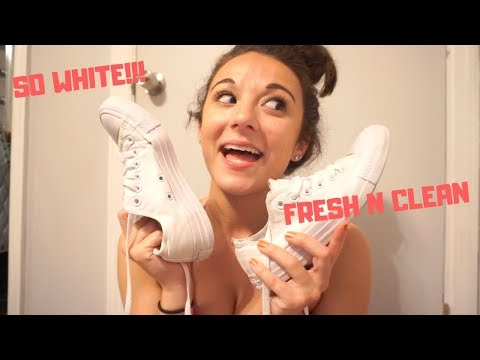 HOW TO CLEAN YOUR WHITE CONVERSE | No Bleach