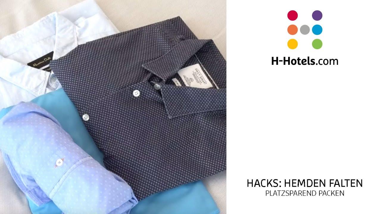 Hemden Falten Trick Hemden Platzsparend Zusammenlegen H Hotels