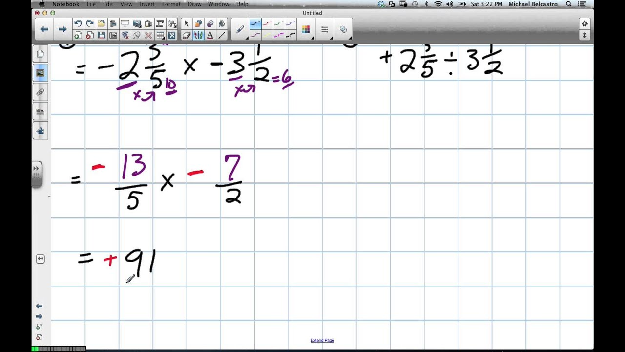 multiplying and dividing mixed fractions grade 8 skills, grade 9 pre