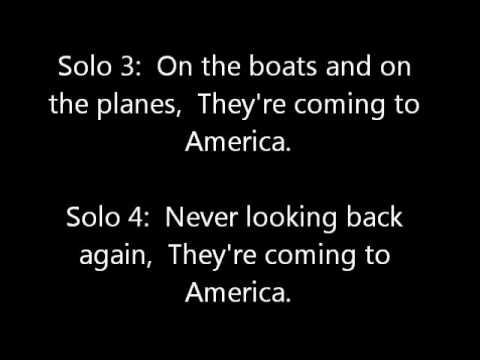America by Neil Diamond Lyric video
