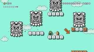 Don't get THWOMPED!: Training :D by Coops789 - Super Mario Maker 2 - No Commentary
