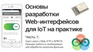 Разработка WEB-интерфейса для ESP8266. Часть 1: Подготовка скетча в Arduino IDE