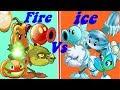 FIRE Pvz2 Vs ICE Pvz2 Power-up in Plants Vs Zombies 2: Gameplay 2017