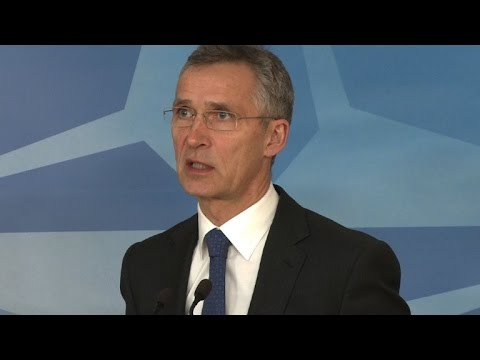 NATO head urges Russia to help end violence in Ukraine
