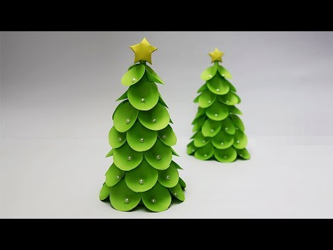 DIY-How to make Tabletop Paper Christmas Tree | Christmas tree decorations ideas